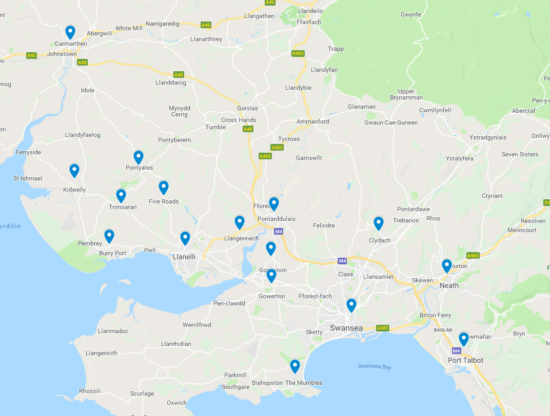 Local Scrap Cars Recovered - areas we cover